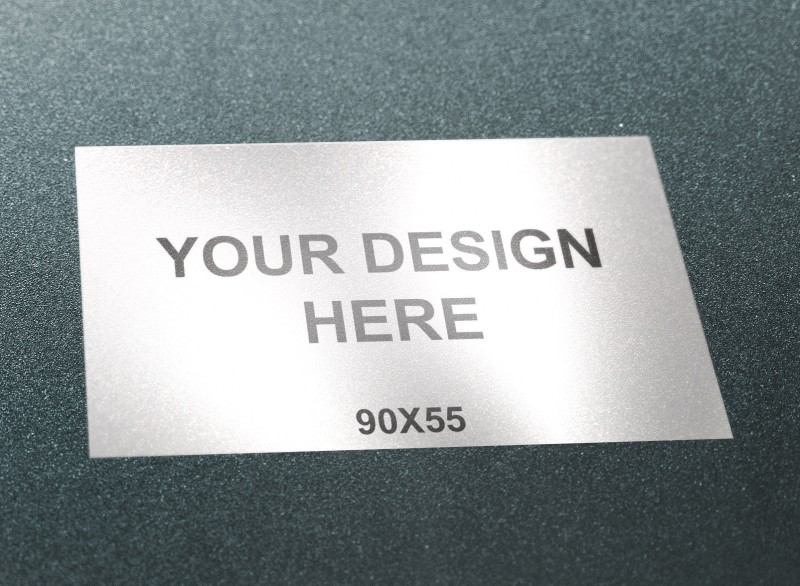 business card fridge magnet