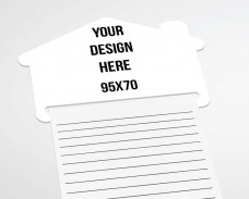 House notepad fridge magnet